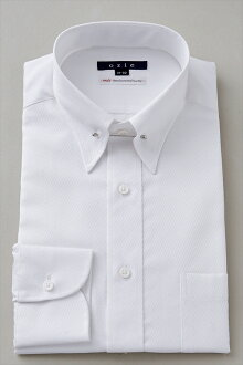 固體模式穿襯衫長袖襯衫 100 碧紗平原針孔顏色白色白色襯衫襯衫襯衫商務襯衫長袖襯衫男士男裝時尚時裝時尚 Y 襯衫專業店辦公禮品 OZIE