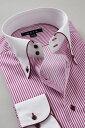 ドレスシャツ 長袖 高級 ワイシャツ 長袖シャツ ドゥエボットーニ ボタンダウンシャツ クレリックシャツ メンズ Yシャツ ビジネス ワイ..