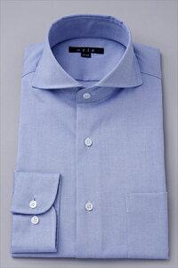 ワイシャツ タイトフィット ホリゾンタルカラー カッタウェイ オックスフォード カッター