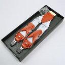 送料無料 サスペンダー 2WAYサスペンダー 日本製 国産 シルク100% Y型 35mm幅 3.5cm幅 シルバー ペイズリー柄 フォーマル カジュアル 吊りバンド・ブレイシーズ パンツ用 牛革 レザー使用 金具付き サスペンダー メンズ 男性用 専門店 ギフト OZIE