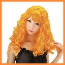 [激安・即納!] オレンジロングカール (大人用ウィッグ)  [セクシーウィッグ かつら ウイッグ ハロウィンコスチューム コスプレ]【C-0312_453800】