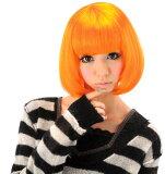 オレンジボブ [(大人用)ウィッグ・ハロウィンコスプレ仮装]【C-0270453688】