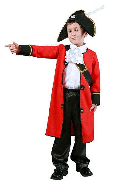 キッズキャプテン(子供用:140cm)【海賊の衣装】  [ハロウィン衣装、ハロウィーン、コスチューム、仮装、子供、男の子]【460428】:パーティグッズ・クラッカーカネコ