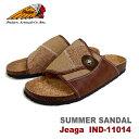 ショッピングベッド INDIAN(インディアン) Indian Motocycle コンチョ付きメンズサンダル Jeaga コルクフットベッド コンフォートサンダル