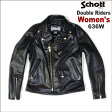 【限定品!】Schott WOMEN'S DOUBLE RIDERS 636W (ショット レディースダブルライダース636W)