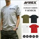 【セール】アビレックス ファティーグ ミリタリーTシャツ V首 (AVIREX S/S FATIGUE TEE V-KNECK)