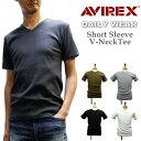 自店で検品済!AVIREX/アビレックス ストレッチTシャツ V首(6143501)メンズカットソーS〜XL 毎日着たい便利物!