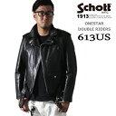 Schott ダブルライダース ワンスター 613US(ショットダブルライダース7007) (Schott ショット 革ジャン ショット ライダース)