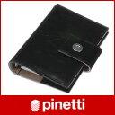 【ポイントアップ中!】 Pinetti ピネッティ イタリア製 手帳 牛革 クラシック  ポケットサイズ ミニ6穴PINETTI システム手帳( リフィルなし )  CLASSIC POCKET ポケットサイズ 手帳 / ブラック PKT-C-00210P25jun10