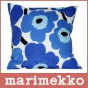 【ポイントアップ中!】 マリメッコ marimekko  ピニエウニッコ  北欧デザイン PILLOW 枕カバー ファブリック 花柄 marimekko PIENI UNIKKO クッションカバー 45cm×45cm (クッション中綿なし) ホワイト&ブルー 10P25jun10