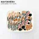 marimekko ( マリメッコ ) Letto ( レット ) スクエア プレート 15×12cm / ホワイト×グリーン×ブラック 【 正規販売店 】