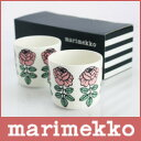 marimekko(マリメッコ)COFFEECUP2PCS(コーヒーカップ 2個セット)Vihkiruusu(ヴィヒキルース)ラテマグ/ピンク2個セット 【楽ギフ_包装】【楽ギフ_のし】.