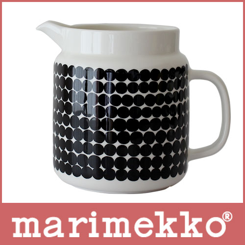 marimekko ( マリメッコ ) ピッチャー ドット柄  Siirtolapuutarha pitcher ( シィールトラプータルハ ) Rasymatto ( ラシィマット ).