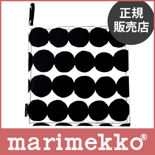 【 メール便 可 】 marimekko ( マリメッコ )Rasymatto ( ラシィマット ) ポットホルダー / ブラック・ホワイト .