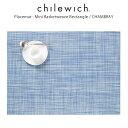 chilewich ( チルウィッチ ) ランチョンマット ミニバスケットウィーブ ( 長方形 )/ シャンブレー ( Mini Basketweave Rectangle / Cha..