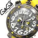 ガガミラノ [ GaGaMILANO ] ガガミラノ 時計 [ GaGaMILANO 時計 ] ガガ ミラノ [ GaGa MILANO ] ガガミラノ 腕時計 [ GaGaMILANO腕時計 ] ガガ時計 [ GaGa時計 ] クロノグラフ PVD CHRONO 48mm ブラック/メンズ/レディース/GG-60546 [新作/人気/プレゼント/ギフト][送料無料]