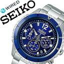 セイコー腕時計 SEIKO時計 SEIKO 腕時計 セイコー 時計 ワイアード ザ ブルー WIRED THE BLUE メンズ ブルー AGAW428 [スタンダード 使いやすい お洒落 安心 バーゲン プレゼント ギフト お祝い][おしゃれ 腕時計][ 入学式 卒業式 高校生 大学生 ]