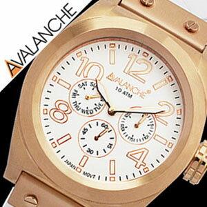 アヴァランチ腕時計 AVALANCHE時計 AVALANCHE 腕時計 アバランチ 時計 ロイヤル Royal メンズ レディース ユニセックス/男女兼用/ホワイト AV-1027-WHRG [アナログ おしゃれ カジュアル かわいい ローズゴールド][送料無料][プレゼント/ギフト/祝い] 【当店は日本時計輸入協会が定めたウォッチコーディネーター在籍店です】【各種プレゼント・ギフト・名入れも承ります】[母の日][父の日][結納][結納返し][結婚祝い]