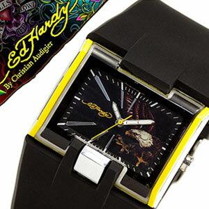 エドハーディー 腕時計 EdHardy 時計 エド ハーディー 時計 Ed Hardy 腕時計 メンズ ブラック ホワイト EDHARDY-HR2-YW アナログ ブランド 送料無料 プレゼント ギフト お祝い[ 父の日 父の日ギフト ]