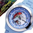 楽天腕時計ギフトのパピヨンエドハーディー腕時計 EdHardy時計 Ed Hardy 腕時計 エド ハーディー 時計 ミスト MIST レディース MT-BL [ブランド 派手 セレブ タトゥー ハリウッド バーゲン プレゼント キッズ 子供用 KIDS ]