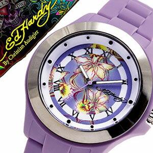 エドハーディー 腕時計 EdHardy 時計 エド ハーディー 時計 Ed Hardy 腕時計 ミスト MIST レディース ブラック ホワイト EDHARDY-MT-PU アナログ ブランド パープル プレゼント ギフト 祝い