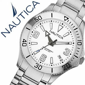 【5年保証対象】ノーティカ腕時計 NAUTICA時計 NAUTICA 腕時計 ノーティカ 時計 デイトM スポーツ アクティブ NAC102 SPORT ACTIVE レディース/ホワイト A13504M [アナログ シルバー おしゃれ][通販 アメリカン ブランド][送料無料][入学/卒業/祝い] NAUTICA時計 ノーティカ腕時計 NAUTICA 腕時計 ノーティカ 時計 デイトM スポーツ アクティブ NAC102 SPORT ACTIVE[送料無料]