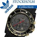 アディダス腕時計[adidas時計]アディダス時計[adidasoriginals腕時計]アディダスオリジナルス時計[adidasoriginals腕時計]アディダス腕時計[adidas腕時計]ストックホルムSTOCKHOLMメンズ/レディース/ブラック/ゴールドADH2906[クロノグラフ][送料無料]