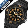 カシオ腕時計 CASIO時計 CASIO 腕時計 カシオ 時計 スタンダード STANDARD メンズ/ブラック オレンジ CASIOW-MRW-200H-4B [アナログ おしゃれ クラシック 海外モデル オールブラック オレンジ 白 黒 橙 3針] 02P01Oct16