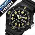 カシオ腕時計 CASIO時計 CASIO 腕時計 カシオ 時計 スタンダード STANDARD メンズ/ブラック イエロー CASIOW-MRW-200H-9B [アナログ おしゃれ クラシック 海外モデル オールブラック イエロー 白 黒 黄 3針] 02P01Oct16