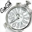 ガガミラノ [ GaGaMILANO ] ガガミラノ 腕時計 [ GaGaMILANO 腕時計 ] ガガ ミラノ [ GaGa MILANO ] ガガミラノ 時計[ GaGaMILANO時計 ]マヌアーレ/ MANUALE 40mm/ホワイト/メンズ/レディース/50208 [おしゃれ ブランド manuale レザー 白 イタリア][人気][送料無料]