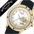 ロマゴ 時計 [ ROMAGO 時計 ] ロマゴ 腕時計 [ ROMAGO 腕時計 ] ロマゴデザイン ROMAGODESIGN [ ロマゴ デザイン ROMAGO DESIGN ] ロマゴデザイン時計 ブロッサム シリーズ/メンズ/レディース/ホワイト/ブラック/RM014-0171PL-GD[BLACK/ゴールド/黒/金/華柄][送料無料][10倍]