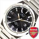 アーセナル腕時計 [Arsenal時計](Arsenal 腕時計 アーセナル 時計) メンズ腕時計/ブラック/GA3718 [アナログ シルバー][プレゼント/ギフト/祝い][ホワイトデー]