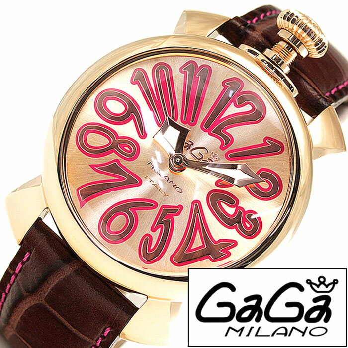 ガガミラノ [ GaGaMILANO ] ガガミラノ 腕時計 [ GaGaMILANO 腕時計 ] ガガ ミラノ [ GaGa MILANO ] ガガミラノ 時計 [ GaGaMILANO時計 ] ガガ腕時計 [ GaGa腕時計 ] ゴールド/ピンクゴールド/18K PVD/40MM/メンズ/レディース/GG-50218 [新作/人気/レザーベルト][送料無料] 【当店は日本時計輸入協会が定めたウォッチコーディネーター在籍店です】【各種プレゼント・ギフト・名入れも承ります】[母の日][父の日][結納][結納
