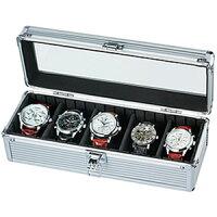 [当日出荷] 「腕時計の収納方法でお困りの方へ♪」5本収納コレクションケース コレクションボックス 時計収納ケースSE-54015AL ディスプレイ ウォッチケース 時計ケース 腕時計ケース プレゼント ギフト 祝い