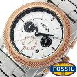 フォッシル 時計 [ FOSSIL 時計 ] フォッシル 腕時計 [ FOSSIL 腕時計] フォッシル時計 [ FOSSIL時計 ] フォッシル腕時計 [ FOSSIL腕時計 ] マシーン MACHINE メンズ/レディース/ホワイト FS4714[人気/新作/日付機能/日付表示/メタルベルト 革ベルト 多数取り扱い][送料無料]