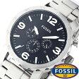 フォッシル 時計 [ FOSSIL 時計 ] フォッシル 腕時計 [ FOSSIL 腕時計] フォッシル時計 [ FOSSIL時計 ] フォッシル腕時計 [ FOSSIL腕時計 ] ネイト NATE メンズ/レディース/ブラック JR1353 [人気/新作/日付機能/日付表示/メタルベルト 革ベルト 多数取り扱い][送料無料]