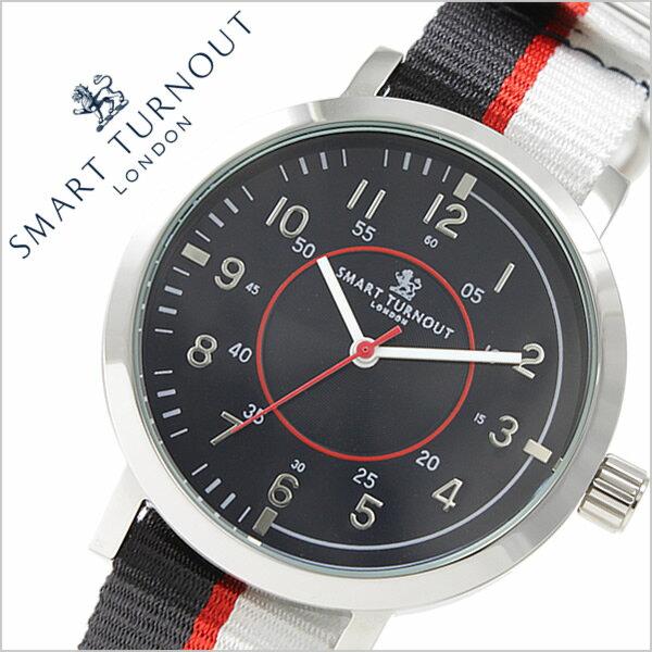スマートターンアウト腕時計 SMARTTURNOUT時計 SMART TURNOUT 腕時計 スマート ターンアウト 時計 メンズ/ブラック ST-COLLEGE-W [人気/新作/防水/かわいい/LONDON/ロンドン/ホワイト/シルバー/ホワイト][送料無料][入学/卒業/祝い] SMARTTURNOUT時計 スマートターンアウト腕時計 SMART TURNOUT 腕時計 スマート ターンアウト 時計