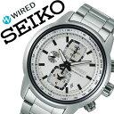 【5年保証対象】ワイアード腕時計 WIRED時計 WIRED 腕時計 ワイアード 時計 リフレクション REFLECTION メンズ/ホワイト AGAV114 [アナログ/クロノグラフ/防水/SEIKO/シルバー/7T92][送料無料]