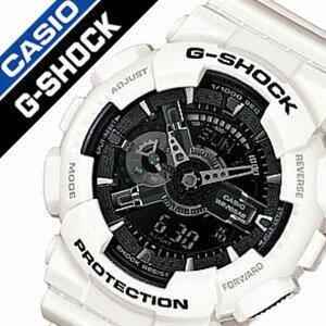 GA-110GW-7A  カシオ ジーショック [ CASIO / G-SHOCK ] Gショック [ G SHOCK / GSHOCK ]ジーショック時計/ジーショック腕時計 [ gshock時計 / gshock腕時計 ] メンズ/ブラック [アナデジ/デジタル/液晶/防水/ホワイト/グレー/モノクロ][送料無料][入学/卒業/祝い] 【 GA-110GW-7A 】[ カシオ ジーショック  ]( CASIO / G-SHOCK )( Gショック )[ G SHOCK / GSHOCK ]ジーショック時