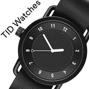 ティッドウォッチ腕時計TIDWatches時計TIDWatches腕時計ティッドウォッチ時計TIDNo.1メンズ/レディース/ブラックTID01-BK-BK[新作/ブランド/人気/プレゼント/ギフト/ペア/ペアウォッチ/革ベルト/おしゃれ/防水/替え/北欧/アナログ/ホワイト][送料無料]