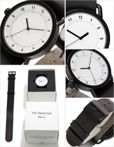 ティッドウォッチ腕時計TIDWatches時計TIDWatches腕時計ティッドウォッチ時計TIDNo.1メンズ/レディース/ホワイトTID01-WH-BK[新作/ブランド/人気/プレゼント/ギフト/ペア/ペアウォッチ/革ベルト/おしゃれ/防水/替え/北欧/アナログ/ブラック][送料無料]
