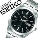 [当日出荷] 【5年保証対象】セイコー腕時計 SEIKO時計 SEIKO 腕時計 セイコー 時計 スピリット SPIRIT メンズ ブラック SBPX083 メタル ベルト 正規品 ソーラー 防水 ペア モデル シルバー シンプル 送料無料