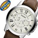 楽天腕時計ギフトのパピヨンフォッシル腕時計 FOSSIL時計 FOSSIL 腕時計 フォッシル 時計 グラント GRANT メンズ ホワイト FS4735 [革 ベルト クロノ グラフ ブラウン シルバー アイボリー クリーム ファッション 人気 ギフト バーゲン プレゼント ご褒美][おしゃれ 腕時計]