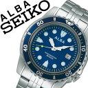 【延長保証対象】セイコー アルバ 腕時計 SEIKO ALBA 時計 セイコーアルバ SEIKOALBA アルバ時計 アルバ腕時計 メンズ ブルー AQGJ403 人気 新作 ブランド 防水 正規品 ステンレス ベルト シルバー ブルー