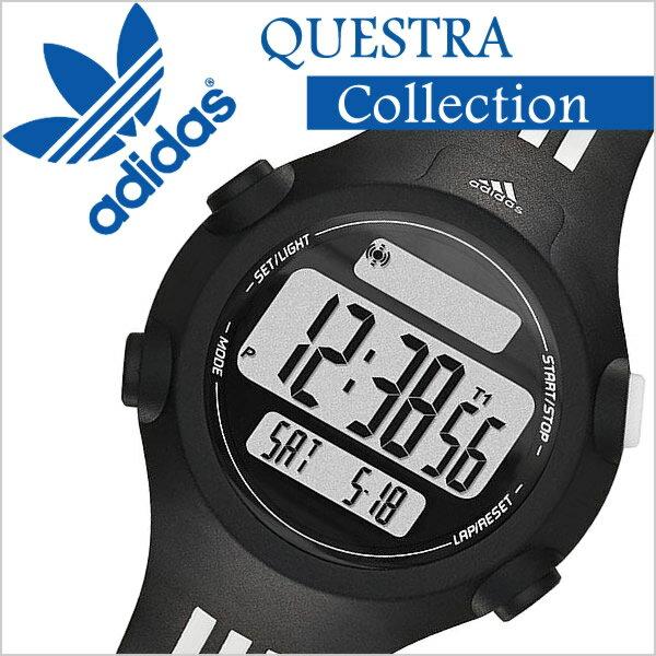 アディダスパフォーマンス 腕時計 adidasPerformance 時計 アディダス パフォーマンス 時計 adidas Performance 腕時計 アディダス腕時計 クエストラ ミッド QUESTRA MID メンズ レディース ADP6085 マラソン ラバー スポーツウォッチ 液晶 デジタル ブランド ホワイト