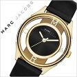 マークバイマークジェイコブス 腕時計[ MARCBYMARCJACOBS 時計 ]マーク バイ マーク ジェイコブス 時計[ MARC BY MARC JACOBS 腕時計 ][ マークジェイコブス ]ティザー Tether レディース/ブラック MBM1376 [人気/ブランド/革 ベルト/レザー/ゴールド/スケルトン][送料無料]