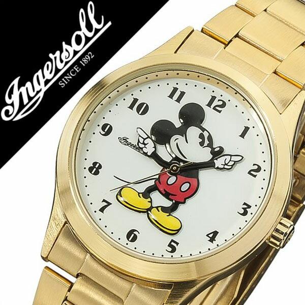 インガソール ミッキー 腕時計[ INGERSOLL MICKEY 時計 ]ディズニー 時計[ Disney 腕時計 ]インガソールミッキー[ INGERSOLLMICKEY ]ディズニー時計/メンズ/レディース/DIN004GDGD [メタル ベルト/クラシック タイム コレクション/ゴールド][送料無料][入学/卒業/祝い] インガソール ミッキー 腕時計( INGERSOLL MICKEY 時計 )ディズニー 時計( Disney 腕時計 )インガソールミッキー( INGERSOLLMICKEY )(