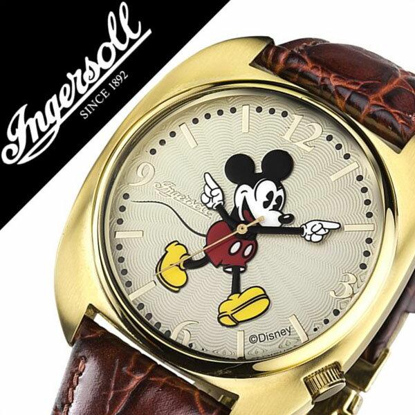 インガソール ミッキー 腕時計[ INGERSOLL MICKEY 時計 ]ディズニー 時計[ Disney 腕時計 ]インガソールミッキー[ INGERSOLLMICKEY ]ミッキー時計[ ミッキー腕時計 ]メンズ/レディース/ZR26514 [革 ベルト/ゴールデン イヤーズ コレクション][送料無料][クリスマス ギフト]