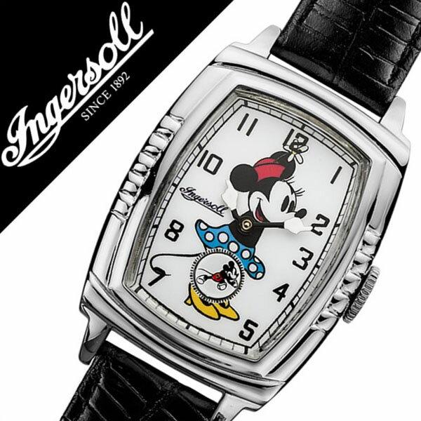 インガソール ミニー 腕時計[INGERSOLL MINNIE 時計]ディズニー 時計[Disney 腕時計]インガソールミニー[INGERSOLLMINNIE]ミニー時計[ミニー腕時計]レディース ZR26565 [機械式 メカニカル 革 ベルト 30's コレクション 復刻モデル レア][バーゲン プレゼント ギフト]