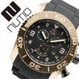 ヌーティッド 腕時計[ NUTID 時計 ]ヌーティッド 時計[ NUTID 腕時計 ]マット ブル MATT BULL メンズ/ブラック N-1403M-A [正規品/デザイナーズウォッチ/ファッション/デザイン/人気/ブランド/防水/シリコン/ラバー/ゴールド][送料無料][クリスマス プレゼント]